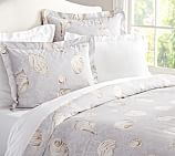 Summer Seashell Organic, Duvet Cover,Twin, Neutral