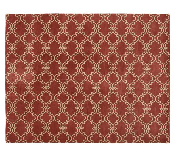 Scroll Tile Rug, 3x5', Terra Cotta