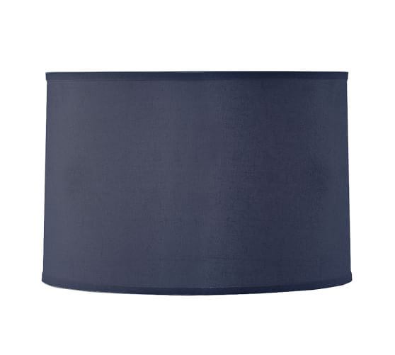 linen straight drum lamp shade medium indigo. Black Bedroom Furniture Sets. Home Design Ideas