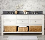 Classic Double Sink Console Base only, White