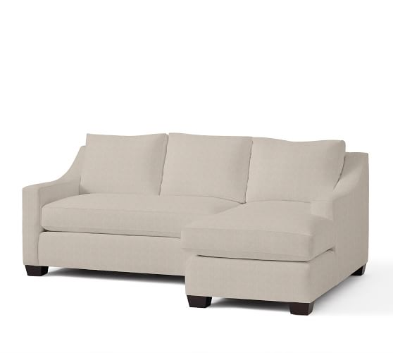 York slope arm upholstered sofa with chaise sectional for Albany sahara sectional sofa chaise