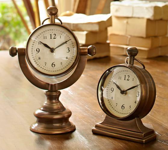 Mariner's Metal Swivel Desk Clock