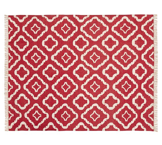 Lily Indoor/Outdoor Rug, 5 x 8', Red