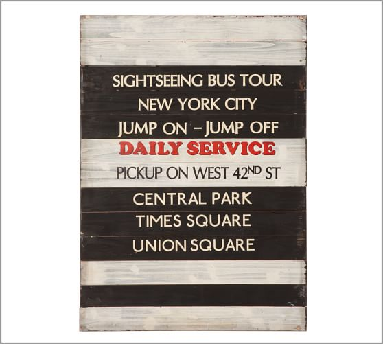 NY City Tour Wall Art