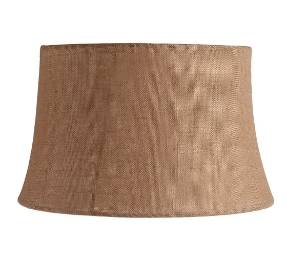 Burlap Upholstered Tapered Drum Lamp Shade Pottery Barn