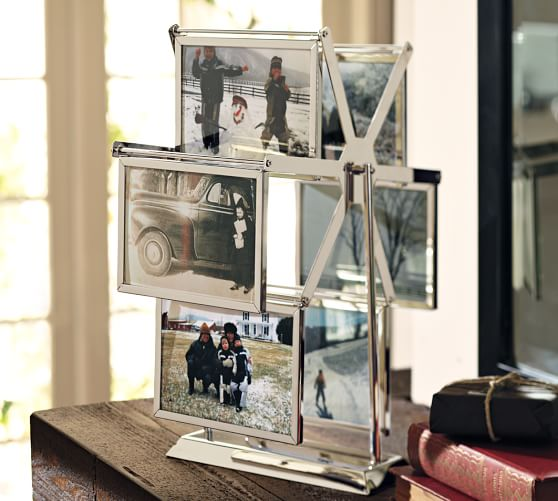 Silver-Plated Photo Picture Frame Carousel