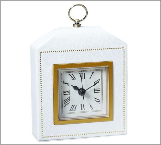 Abott Alarm Clock, White