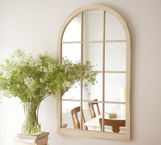 Arched window mirror pottery barn for Window mirror