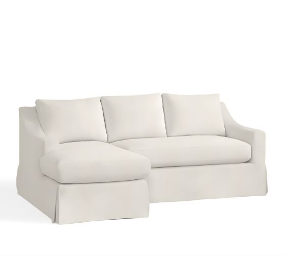 York Slope Arm Sectional Slipcovers