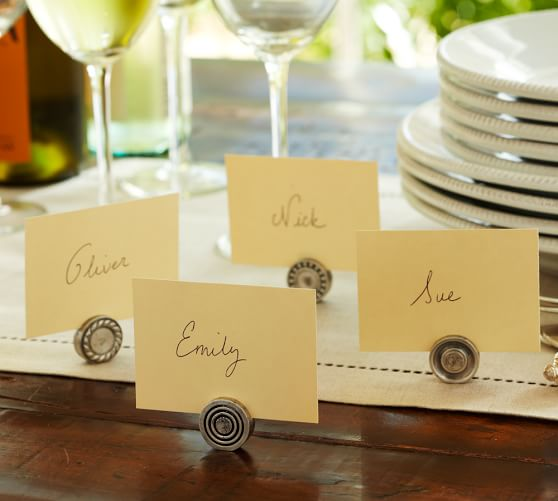 Antique Bar Place Card Holder, Set of 4