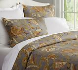Preston Palampore Duvet Cover, Twin, Cool