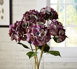 Faux Purple Hydrangea Stem
