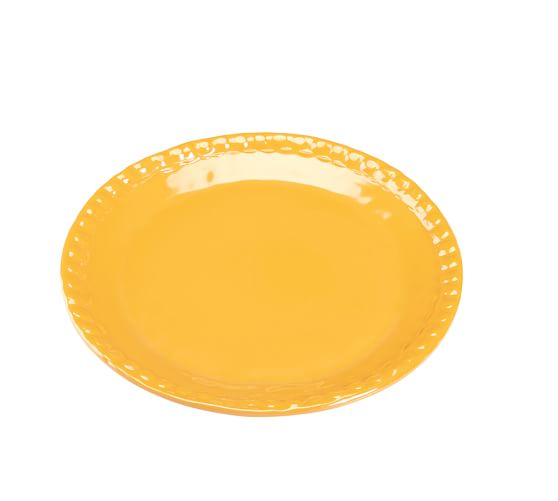 Beaded Melamine Salad Plate, Yellow, Set of 4
