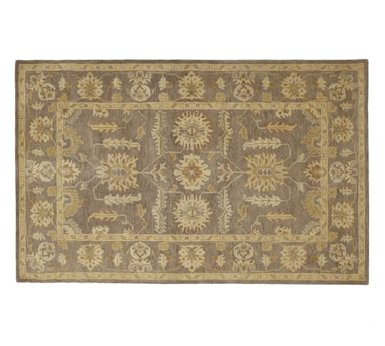 Hastings persian style rug brown pottery barn - Discontinued pottery barn rugs ...