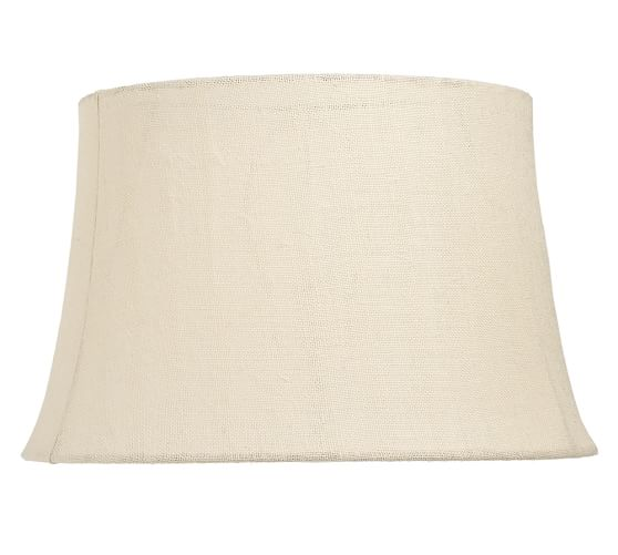 Burlap Tapered Drum Lamp Shade, Extra-Large, Bleached