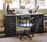 Printer's Desk Set, Artisanal Black stain