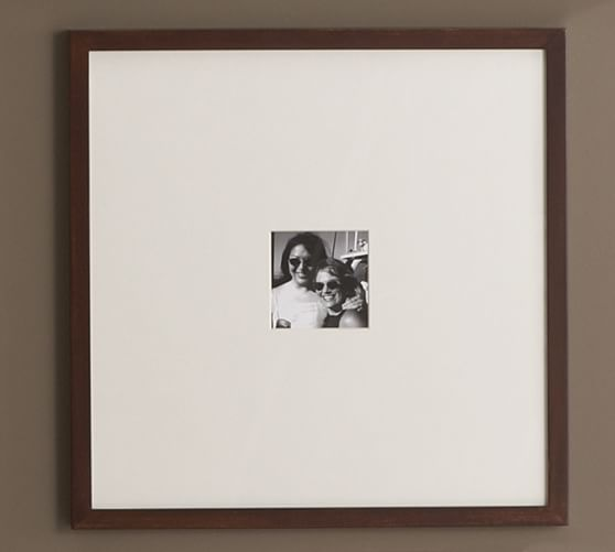 """Wood Gallery Oversized Picture Frame, 18 x 18"""", Black"""