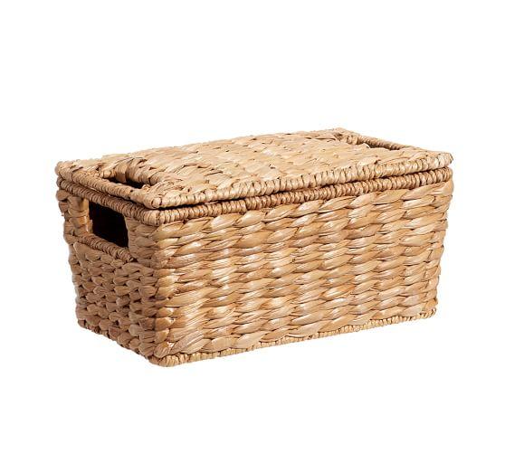 Savannah Lidded Basket, Small