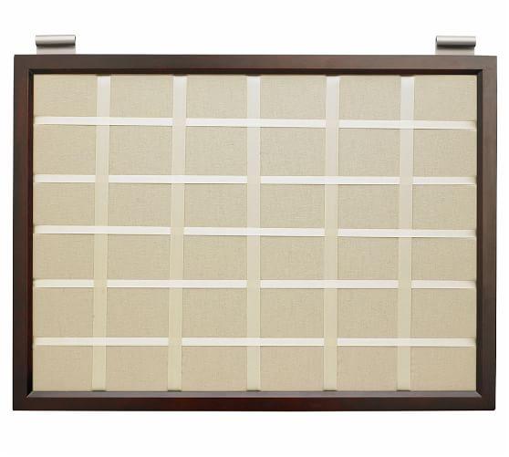 Linen Pinboard, Espresso stain