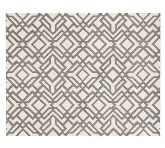 Shelby Tufted Wool Rug, 5x8', Gray