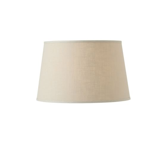 linen tapered drum lamp shade small bisque. Black Bedroom Furniture Sets. Home Design Ideas