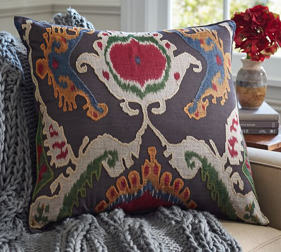 Mercer Ikat Pillow Cover 24 Quot Pottery Barn