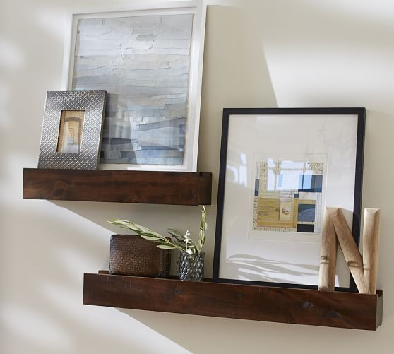 Pottery Barn Picture Ledge: Rustic Wood Ledges