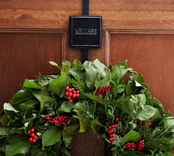 Square Metal Wreath Hanger, Vintage Pewter finish