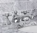 Victoria Cross-Handle Widespread Bathroom Faucet, Chrome Finish