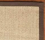 Color-Bound Seagrass Rug Swatch, Espresso