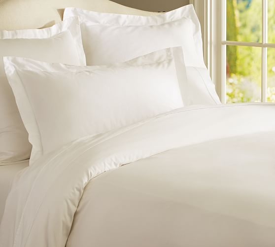 PB Essential Duvet Cover, Twin, Ivory
