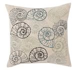 Knotted Ocean Sprial Shell Embroidered Pillow Cover, 20