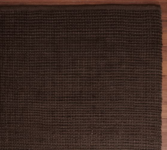 Mason Boucle Jute Rug, 5x8', Espresso
