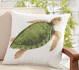 Indoor/Outdoor La Paz Turtle Pillow, 20
