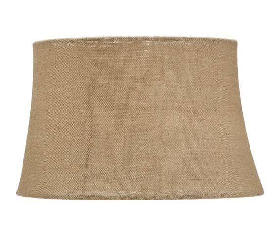 Burlap Tapered Drum Lamp Shade, Extra-Large, Natural