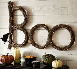 Twig Lit BOO Sign