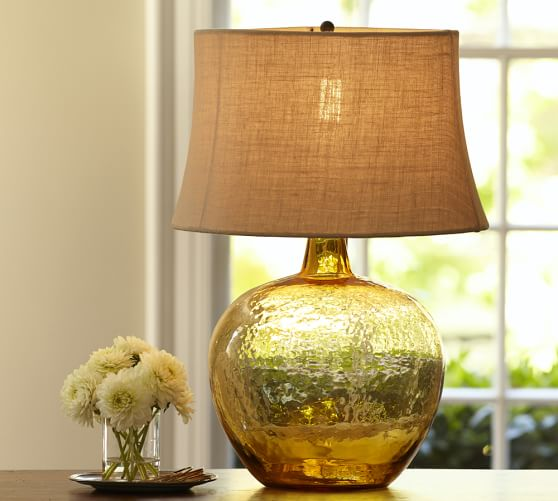 Clift Glass Jug Table Lamp Base, Amber