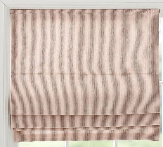 Mini Stripe Cordless Roman Shade, 26 x 64