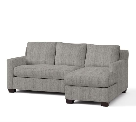 York square arm upholstered sofa with chaise sectional for Albany sahara sectional sofa chaise