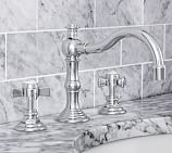 Langford Cross-Handle Widespread Bathroom Faucet, Chrome Finish