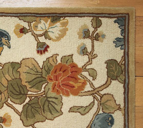 Bird Floral Rug Swatch