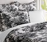 Matine Toile Wholecloth Quilt, Twin, Black