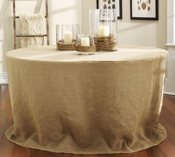 Burlap Table Overlay, 40