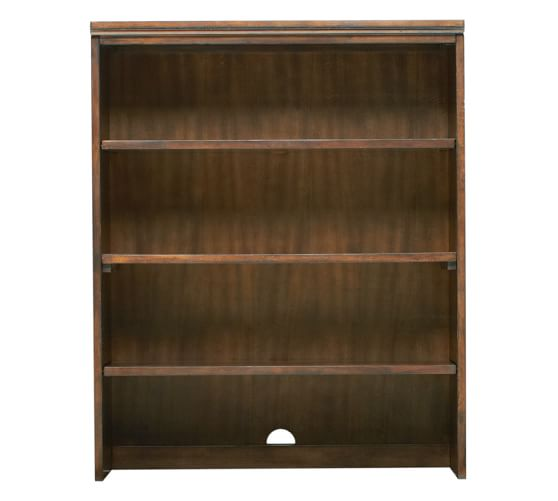 Printer's Double Bookcase Hutch, Tuscan Chestnut stain