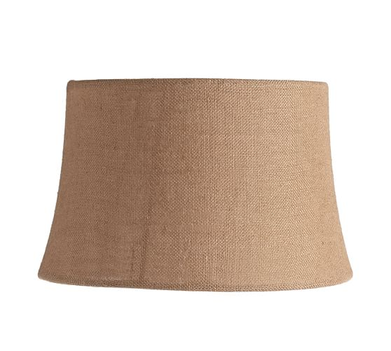 Burlap Tapered Drum Lamp Shade, Medium, Natural