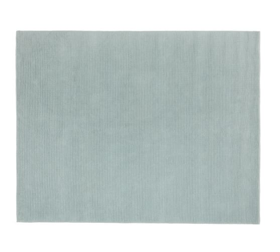 Kayln Wool Rug, 5x8', Porcelain Blue