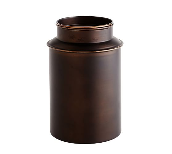 Bronze Metal Canisters Pottery Barn