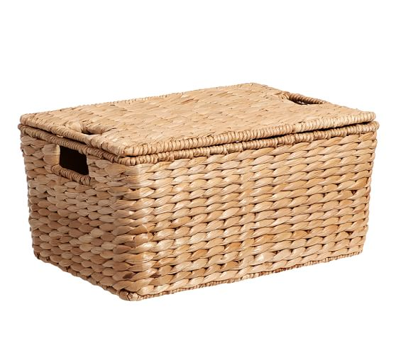 Savannah Lidded Basket, Medium