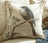 Sky Bird Embroidered Pillow Cover, 18