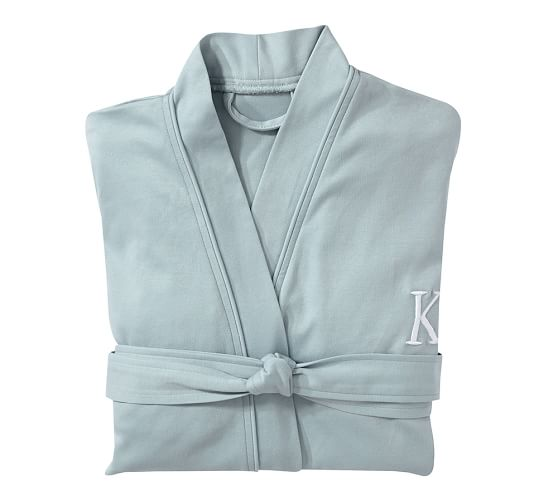 Lightweight Organic Cotton Robe, Extra-Small/Small, Fresca Blue